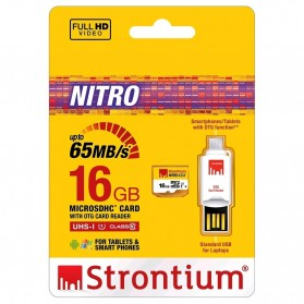 Strontium Nitro 433X MicroSDHC UHS-1 65MB/s Class 10 16GB with OTG Card Reader - SRN16GTFU1T - 5