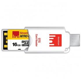 Strontium Nitro 466X MicroSDHC UHS-1 70MB/s Class 10 32GB with OTG Card Reader - SRN32GTFU1T - 2