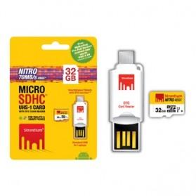 Strontium Nitro 466X MicroSDHC UHS-1 70MB/s Class 10 32GB with OTG Card Reader - SRN32GTFU1T - 4