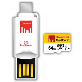 Strontium Nitro 566X MicroSDXC UHS-1 85MB/s Class 10 64GB with OTG Card Reader - SRN64GTFU1T