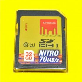 Strontium Nitro 466X SDHC UHS-1 70MB/s  Class 10 32GB - SRN32GSDU1 - Yellow