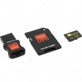Strontium Nitro 466X MicroSDXC UHS-1 70MB/s Class 10 128GB with Adapter and Card Reader - SRN128GTFU1C - 3