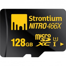 Strontium Nitro 466X MicroSDXC UHS-1 70MB/s Class 10 128GB with Adapter and Card Reader - SRN128GTFU1C - 4