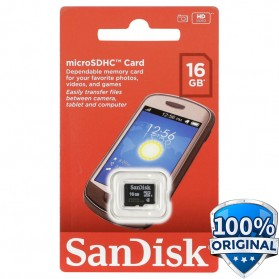 SanDisk microSDHC Memory Cards Class 4 16GB - SDSDQM-016G-B35 - 1