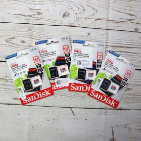 SanDisk Ultra microSDXC Card UHS-I Class 10 A1 (100MB/s) 128GB with SD Card Adapter - SDSQUAR-128G-GN6MA - 3