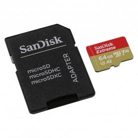 Sandisk MicroSDXC Extreme A2 V30 UHS-1 (160MB/s) 64GB - SDSQXA2-064G-GN6MA - Black - 2