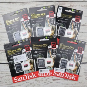 Sandisk MicroSDXC Extreme Pro A2 V30 UHS-1 (170MB/s) 64GB with SD Card Adapter - SDSQXCY-064G-GN6MA - Black - 3