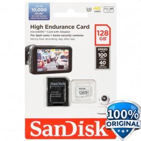 SanDisk High Endurance microSDHC Card UHS-I Class 10 U3 V30 (100MB/s) 128GB - SDSQQNR-128G-GN6IA