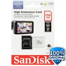 SanDisk High Endurance microSDHC Card UHS-I Class 10 U3 V30 (100MB/s) 256GB - SDSQQNR-256G-GN6IA