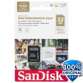 SanDisk MAX ENDURANCE MicroSDHC UHS-I V30 (100MB/s) 32GB - SDSQQVR-032G-GN6IA - 1