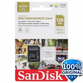SanDisk MAX ENDURANCE MicroSDXC UHS-I V30 (100MB/s) 128GB - SDSQQVR-128G