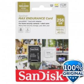 SanDisk MAX ENDURANCE MicroSDXC UHS-I V30 (100MB/s) 256GB - SDSQQVR-256G-GN6IA