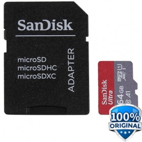 SanDisk Ultra microSDXC Card UHS-I Class 10 A1 (120MB/s) 64GB with Adaptor- SDSQUA4-064G-GN6MA - 2
