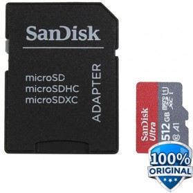SanDisk Ultra microSDXC Card UHS-I Class 10 A1 (120MB/s) 512GB with Adaptor - SDSQUA4-512G-GN6MA - 2