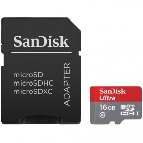 SanDisk Ultra microSDHC Card UHS-I Class 10 (48MB/s) 32GB with SD Card Adapter - SDSDQUA/SDSDQUAN-032G