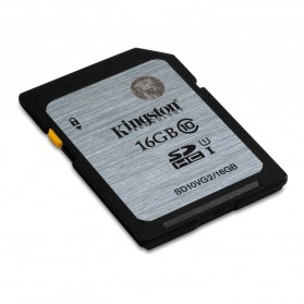 Kingston SDHC Class 10 UHS-I (45MB/s) 16GB - SD10VG2/16GB - Black/Silver