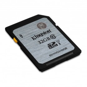 Kingston SDHC Class 10 UHS-I (45MB/s) 32GB - SD10VG2/32GB - Black/Silver