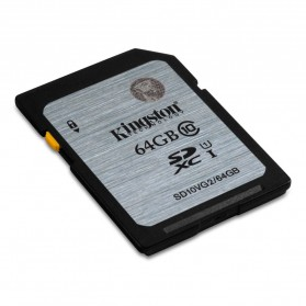 Kingston SDXC Class 10 UHS-I (45MB/s) 64GB - SD10VG2/64GB - Black/Silver