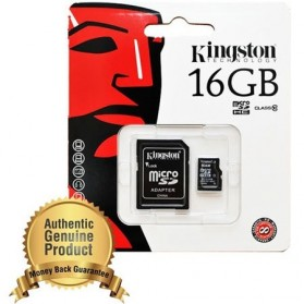 Kingston microSDHC High Capacity Micro Secure Digital Card UHS-I Class 10 (10MB/s) 16GB - SDC10/16GB