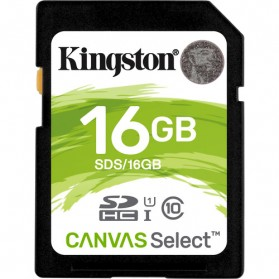 Kingston Canvas Select SDHC Card UHS-I Class 10 (80MB/s) 16GB - SDS/16GB