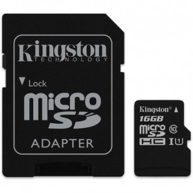 Micro SD Card - Kingston Canvas Select MicroSDHC UHS-I Class 10 (80MB/s) 16GB - SDCS/16GB
