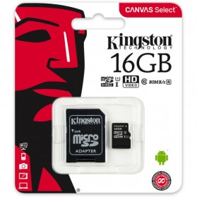Kingston Canvas Select MicroSDHC UHS-I Class 10 (80MB/s) 16GB - SDCS/16GB - 4
