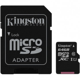 Micro SD Card - Kingston Canvas Select MicroSDXC UHS-I Class 10 (80MB/s) 64GB - SDCS/64GB