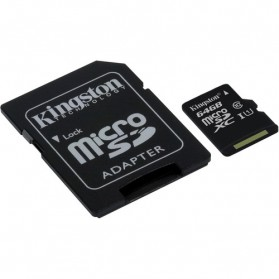 Kingston Canvas Select MicroSDXC UHS-I Class 10 (80MB/s) 64GB - SDCS/64GB - 2