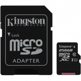 Kingston Canvas Select MicroSDXC UHS-I Class 10 (80MB/s) 256GB - SDCS/256GB - 1