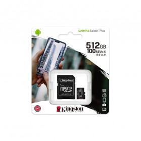 Kingston Canvas Select Plus MicroSDXC UHS-I Class 10 V10 (100MB/s) 512GB - SDCS2 - 3