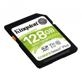 Kingston Canvas Select Plus SDXC Card UHS-I Class 10 V30 (100MB/s) 128GB - SDS2 - 2