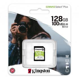 Kingston Canvas Select Plus SDXC Card UHS-I Class 10 V30 (100MB/s) 128GB - SDS2 - 3