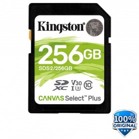 Kingston Canvas Select Plus SDXC Card UHS-I Class 10 V30 (100MB/s) 256GB - SDS2 - 1