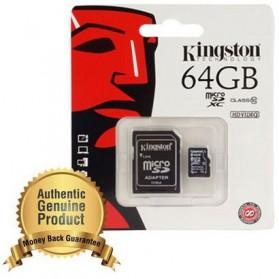 Kingston microSDXC High Capacity Micro Secure Digital Card UHS-I Class 10 (10MB/s) 64GB - SDCX10/64GB