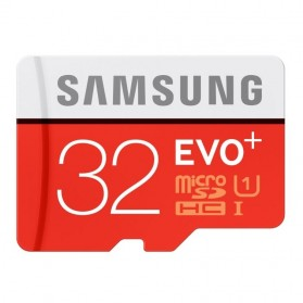 Samsung MicroSDHC EVO Plus Class 10 UHS-1 (80MB/s) 32GB with SD Adapter - MB-MC32DA