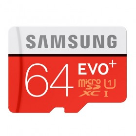 Samsung MicroSDXC EVO Plus Class 10 UHS-1 (80MB/s) 64GB with SD Adapter - MB-MC64DA