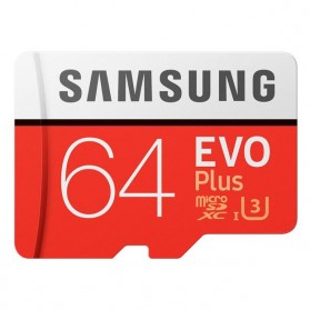 Samsung MicroSDXC EVO Plus Class 10 UHS-1 (100MB/s) 64GB with SD Adapter - MB-MC64GA