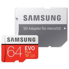 Samsung MicroSDXC EVO Plus Class 10 UHS-1 (100MB/s) 64GB with SD Adapter - MB-MC64GA - 4