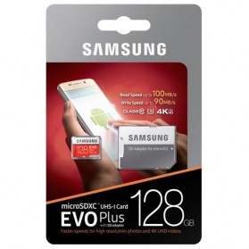 Samsung MicroSDXC EVO Plus Class 10 UHS-1 (100MB/s) 128GB with SD Adapter - MB-MC128GA - 6