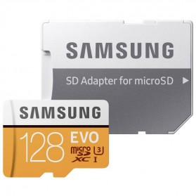 Samsung MicroSDXC EVO Class 10 UHS-1 (100MB/s) 128GB With SD Adapter - MB-MP128GB