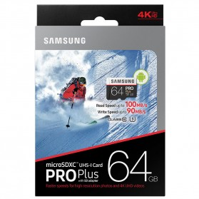 Samsung MicroSDXC Pro Plus UHS-1 (100MB/s) 64GB With SD Adapter - MB-MD64GA - 3