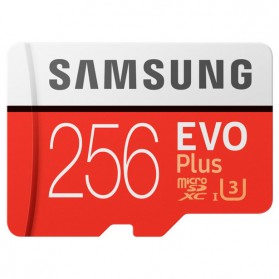 Samsung MicroSDXC EVO Plus Class 10 UHS-1 U3 (100MB/s) 256GB with SD Adapter - MB-MC256GA
