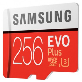 Samsung MicroSDXC EVO Plus Class 10 UHS-1 U3 (100MB/s) 256GB with SD Adapter - MB-MC256GA - 2