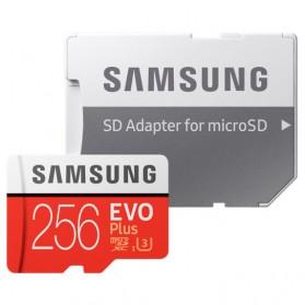 Samsung MicroSDXC EVO Plus Class 10 UHS-1 U3 (100MB/s) 256GB with SD Adapter - MB-MC256GA - 4