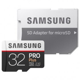 Samsung MicroSDXC Pro Plus UHS-1 (100MB/s) 32GB With SD Adapter - MB-MD32GA