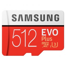 Samsung MicroSDXC EVO Plus Class 10 UHS-1 U3 (100MB/s) 512GB with SD Adapter - MB-MC512GA