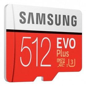 Samsung MicroSDXC EVO Plus Class 10 UHS-1 U3 (100MB/s) 512GB with SD Adapter - MB-MC512GA - 3