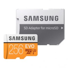 Samsung MicroSDXC EVO Class 10 UHS-1 (100MB/s) 256GB With SD Adapter - MB-MP256GA