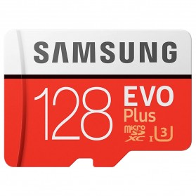 Samsung MicroSDXC EVO Plus Class 10 UHS-1 U3 (100MB/s) 128GB with SD Adapter - MB-MC128HA (CN Version)