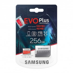 Samsung MicroSDXC EVO Plus Class 10 UHS-1 U3 (100MB/s) 256GB with SD Adapter - MB-MC256HA (CN Version) - 8
